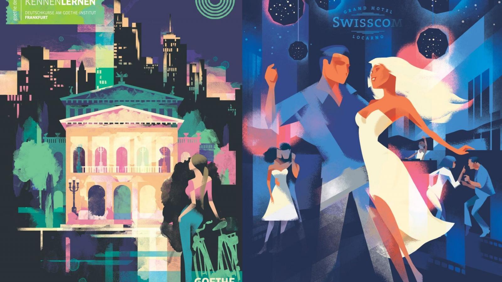 Una Ventana al Pasado: Amazing Art Deco Póster por Mads Berg