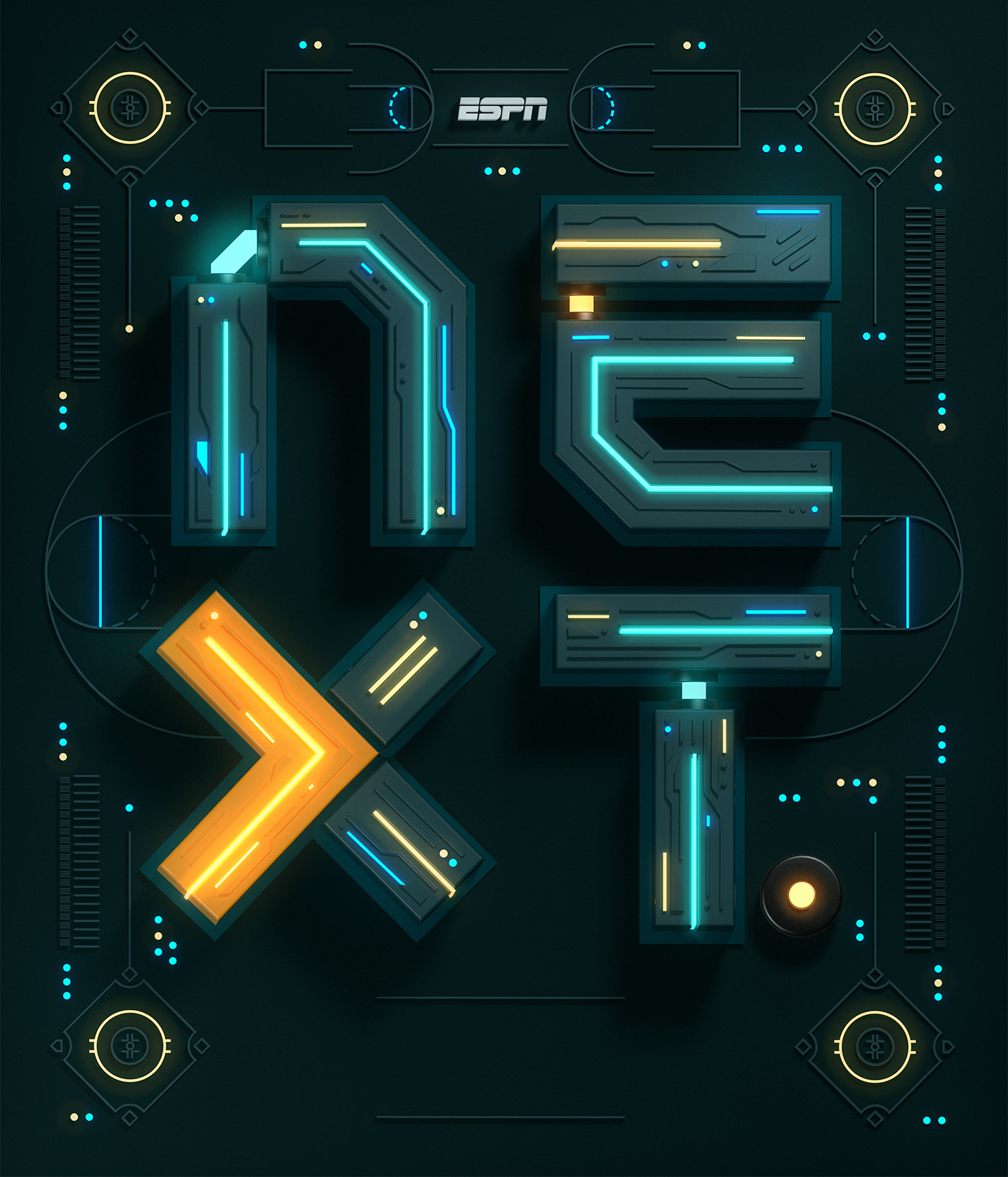 Typographic Illustration for ESPN NEXT