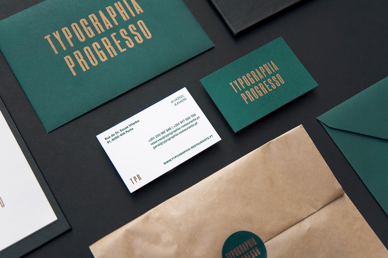 Brand Identity for Typographia Progresso Restaurant