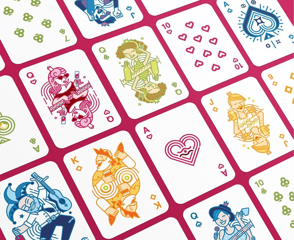 Ikano Playing Cards Design