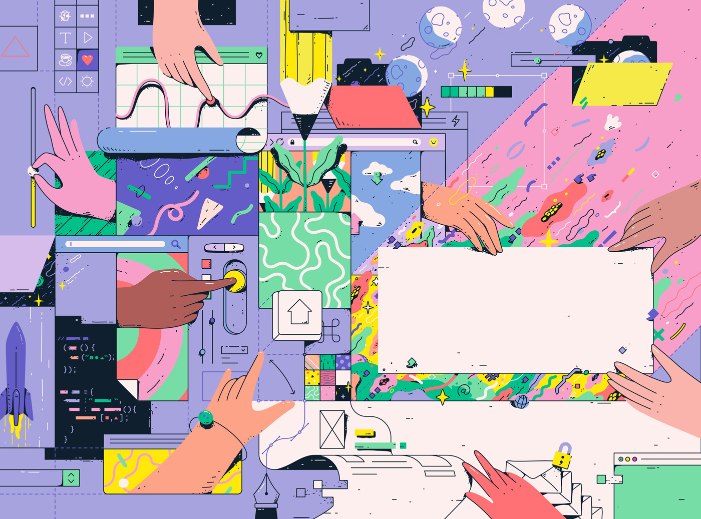 Fresh Commissioned Illustrations by Lena Vargas