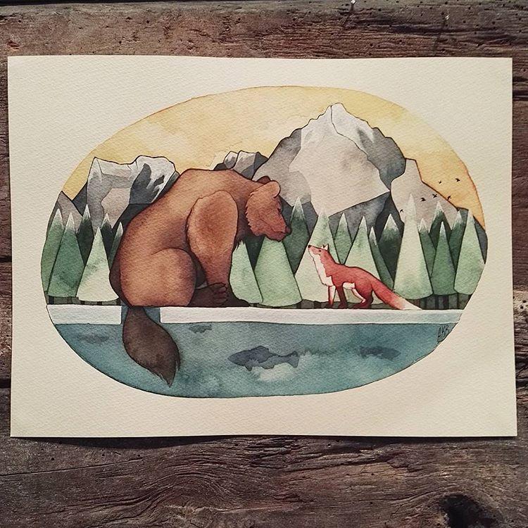 Splendid Watercolor Artworks by Anna Bjørdal