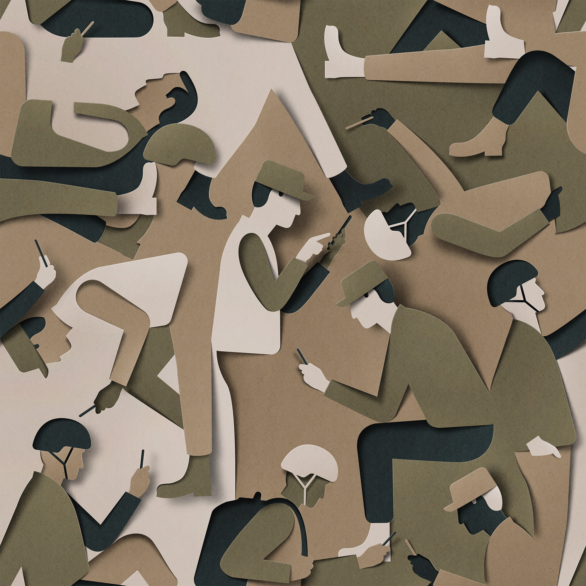 Super Clever Editorial Illustration - Dangerous Camouflage