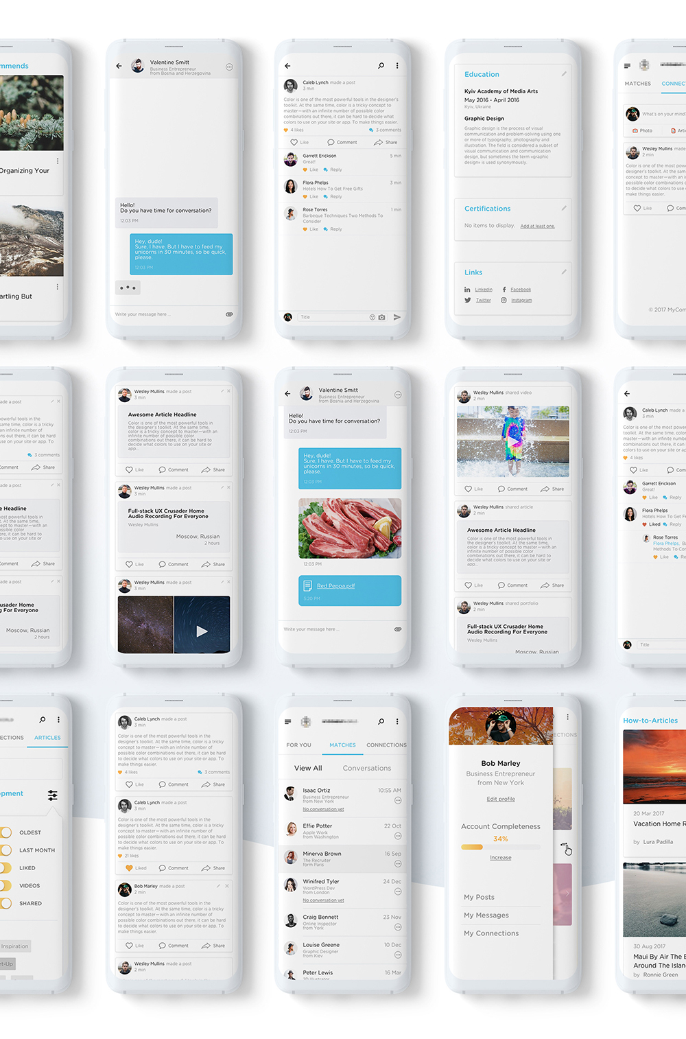 Web Design & UI/UX of Millennials, a social portal