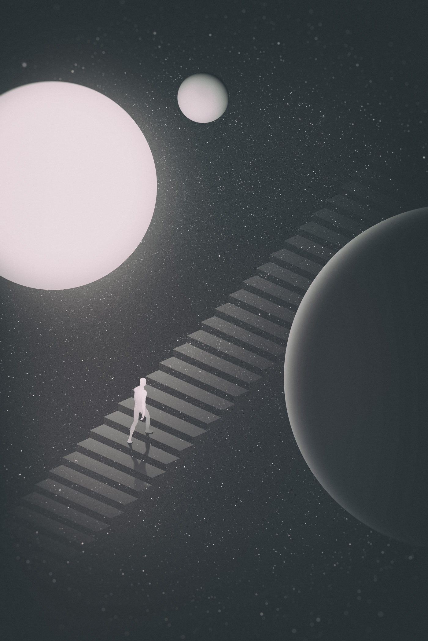 Surreal Illustration Style: The observatory
