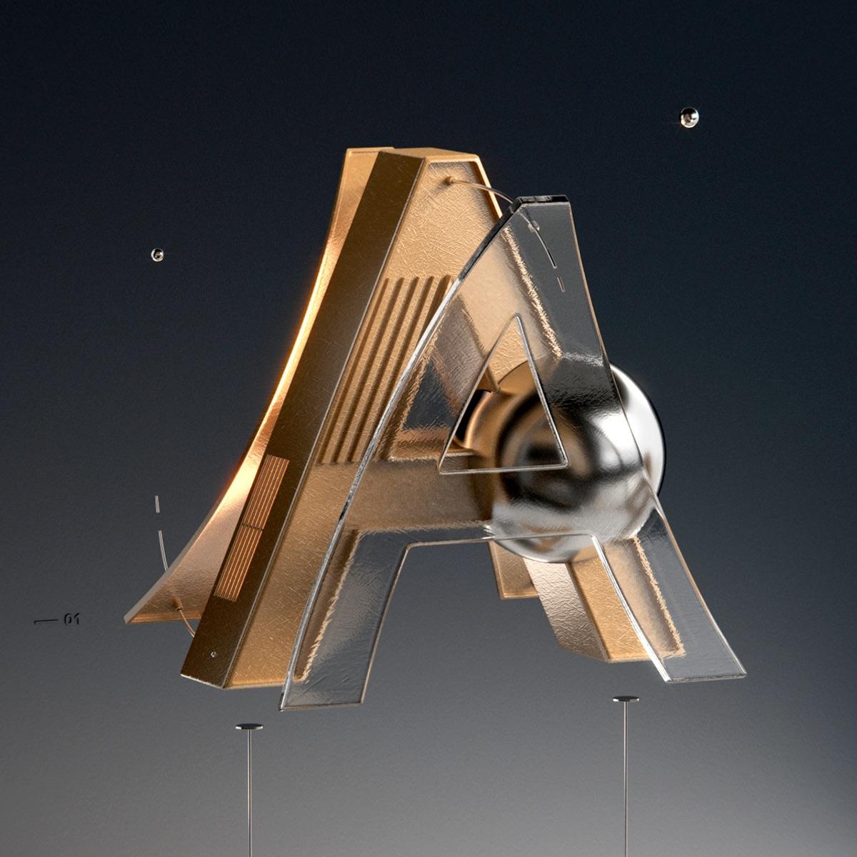 Typography: 36 days of type by Alper Dostal