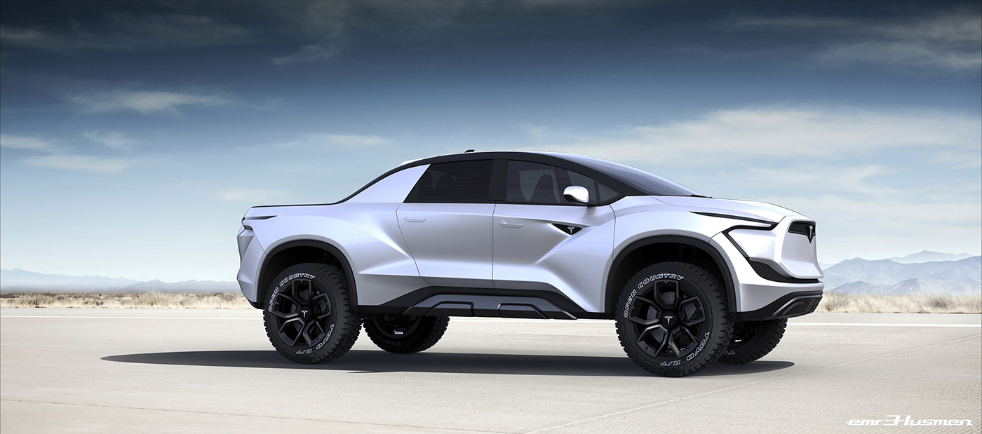 Automotive Design: Tesla Pickup Concept