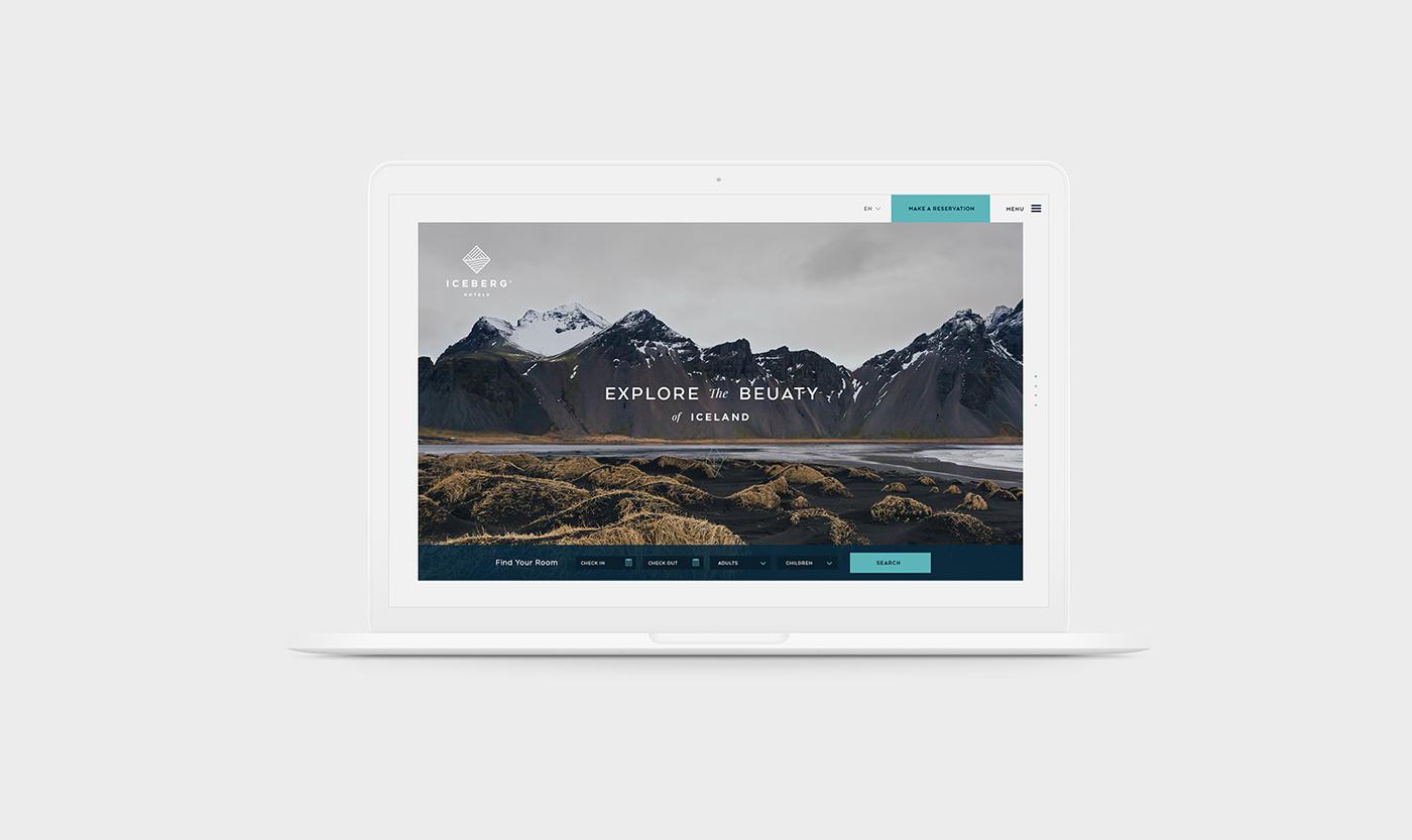 Brand Identity & Web Design for Iceberg Hotels