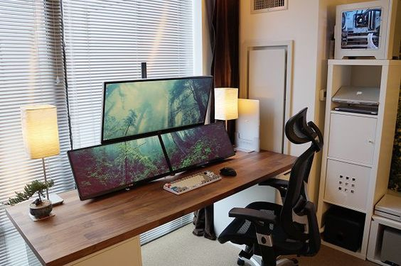 The Perfect Office - Google Jamboard, Apple Macbook Pro, Microsoft Surface Studio PC and Office Ideas