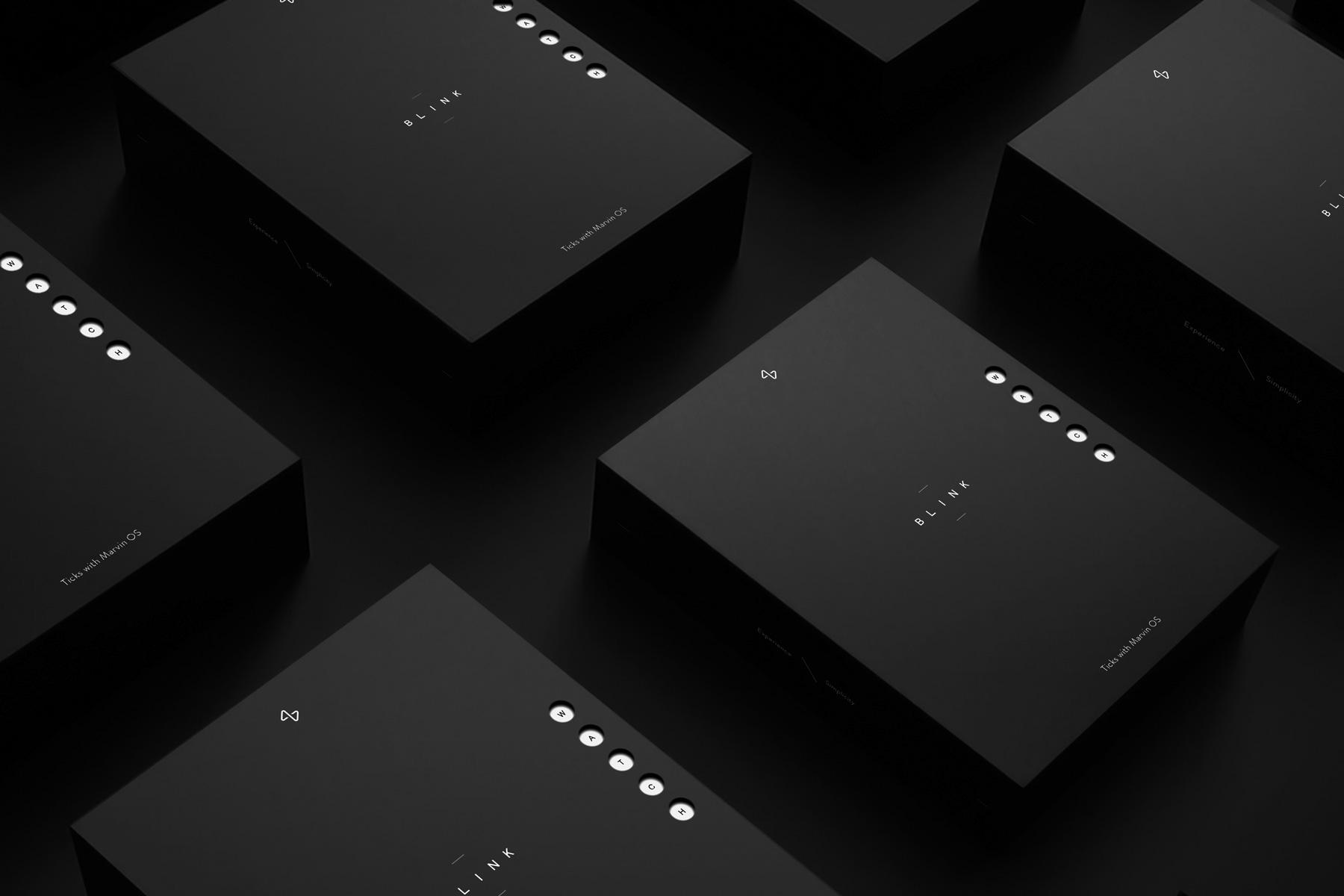 Minimal Packaging & Graphic Design: blink.watch