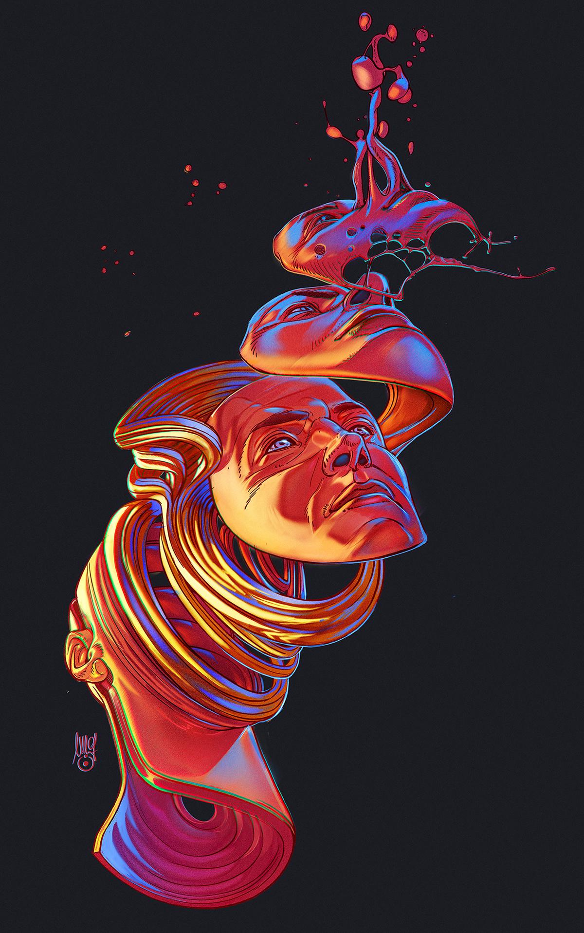 Liquid Mind Illustrations
