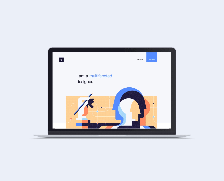 Stylish Web Design for Personal Website and Portfolio