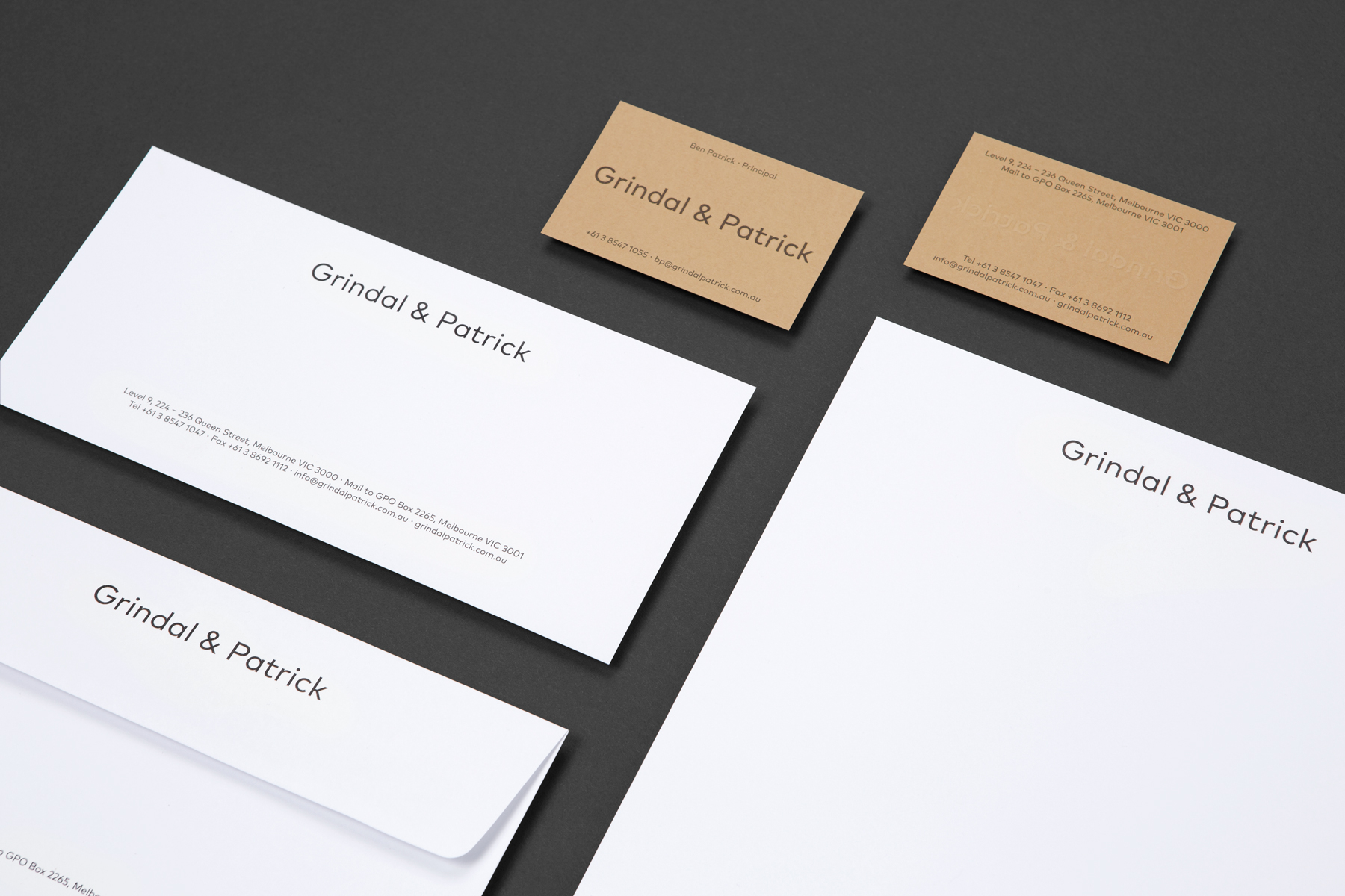 Branding and Visual Identity: Grindal & Patrick