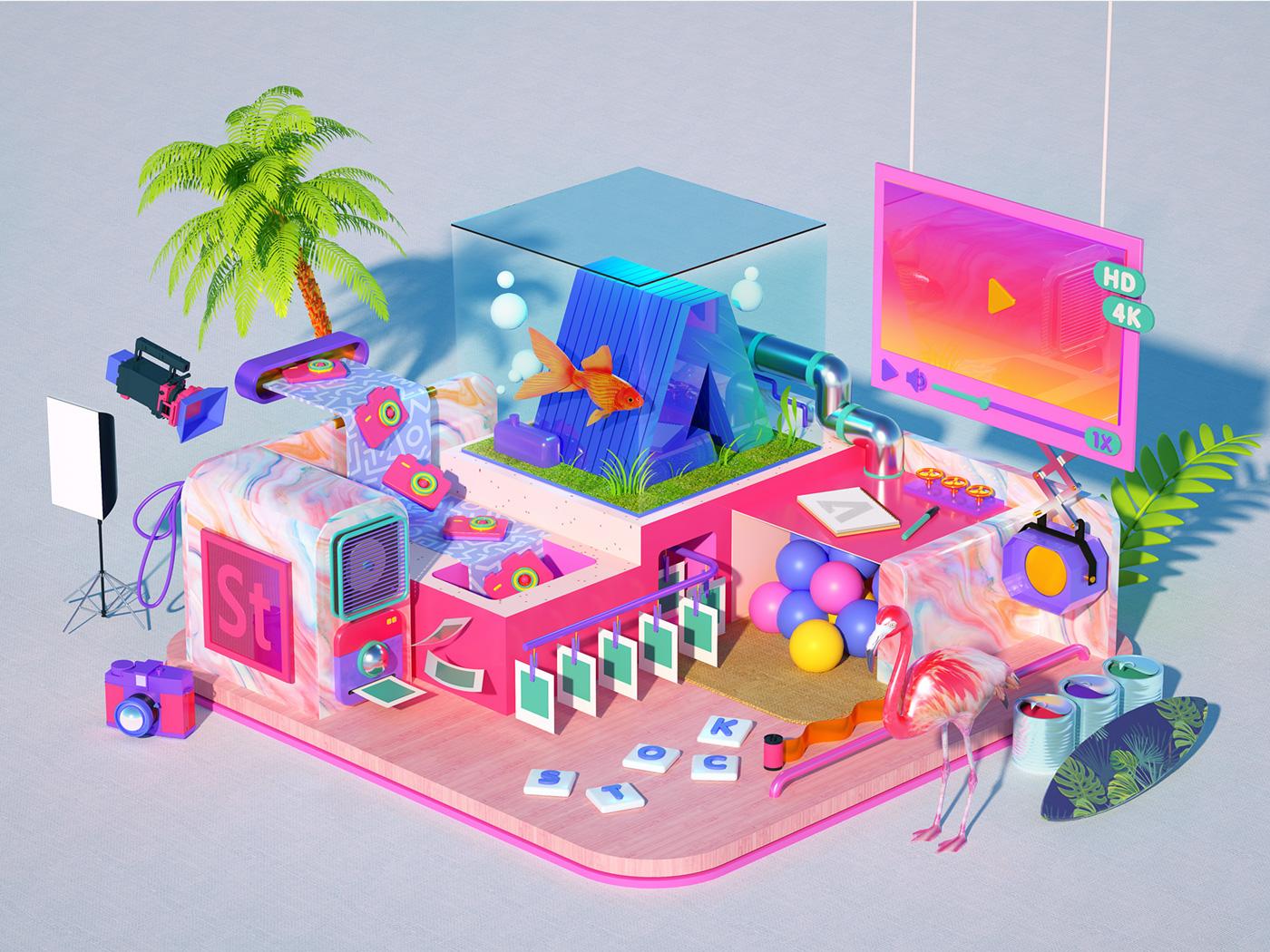 Illustration & Digital Art: 3D Works by Ryogo Toyoda