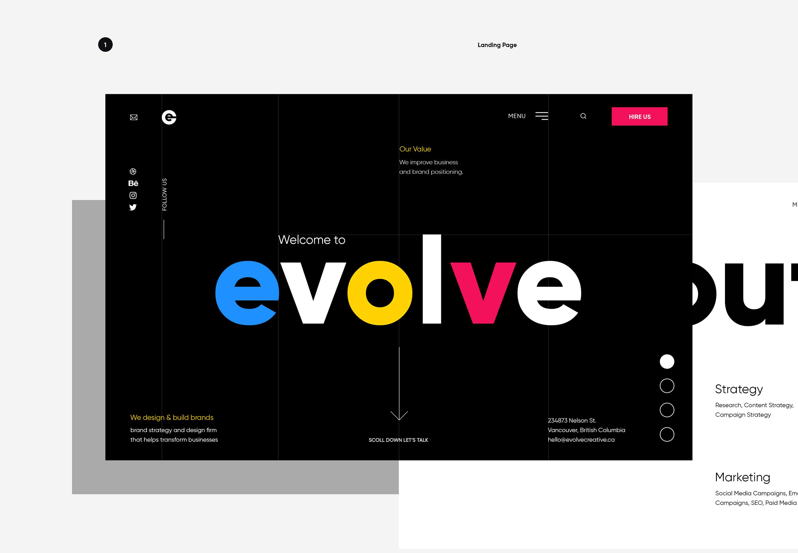 Web Design: Evolve Creative Design
