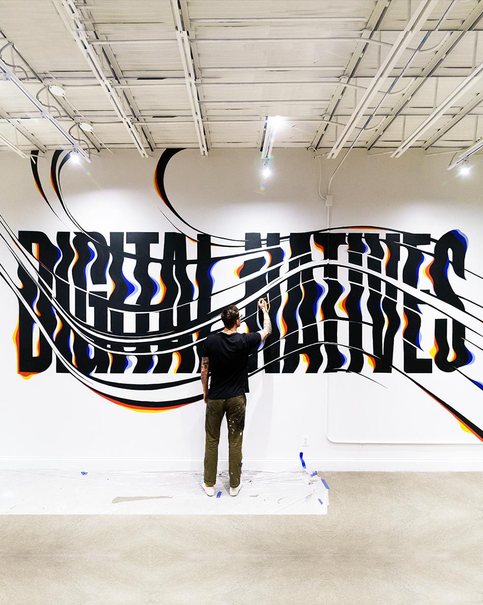Digital Natives Mural by Ben Johnston