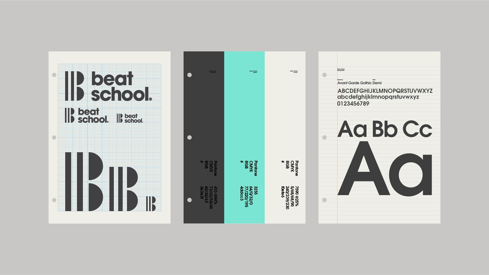 Modernist Brand Identity for Beat School