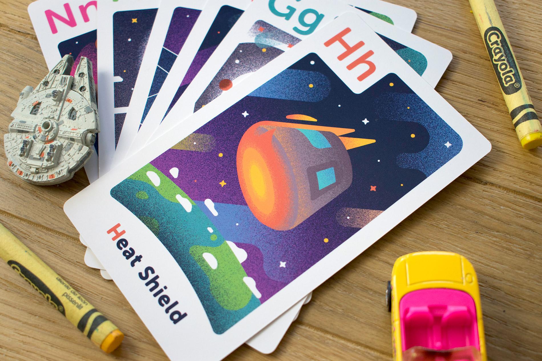 Astro Alphabet Space-themed Flashcards