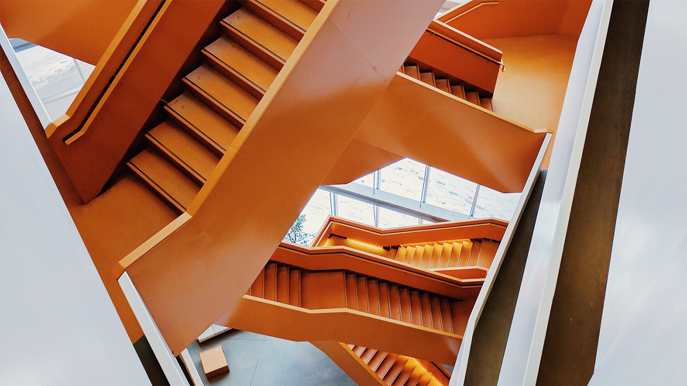 Wallpaper of the Week - Grand Orange Staircase