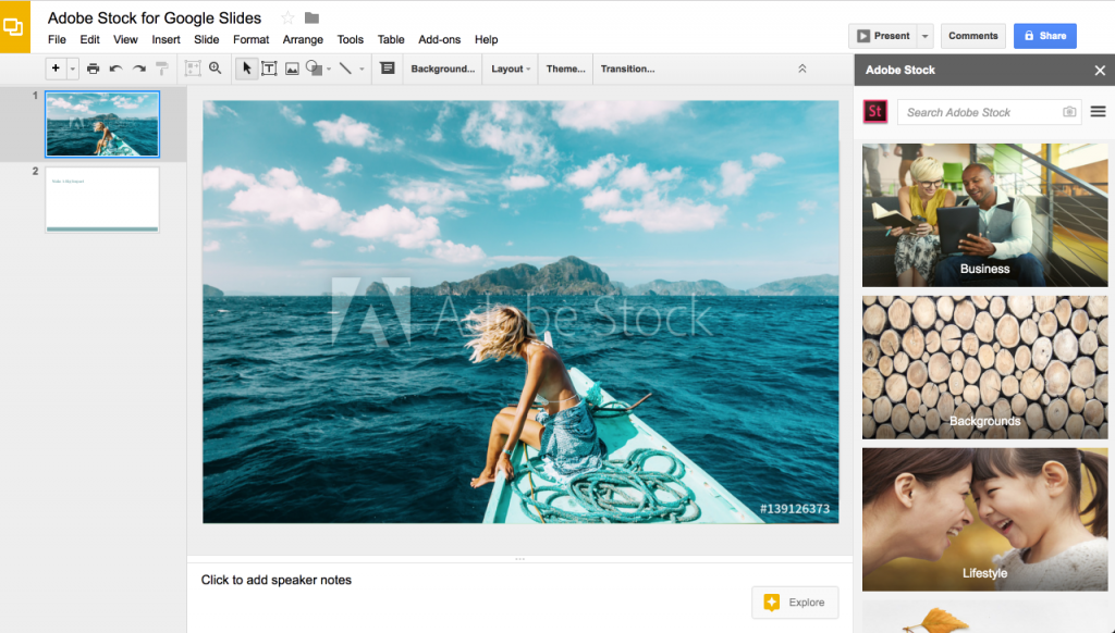 Adobe Stock: Integration with Google Slides and more