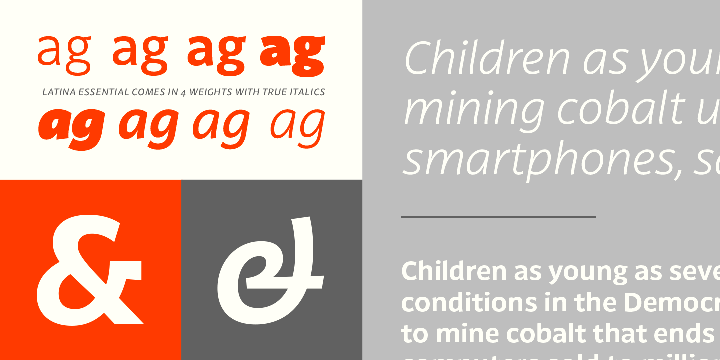 Typography Design and Free Latina Essential Font