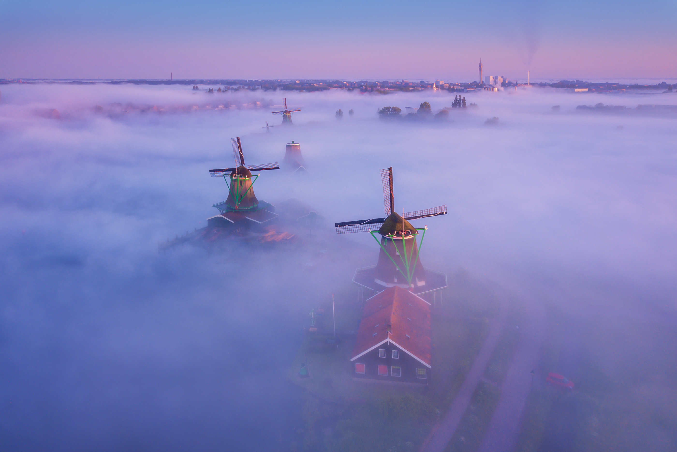 Photography Magic Windmills by Albert Dros