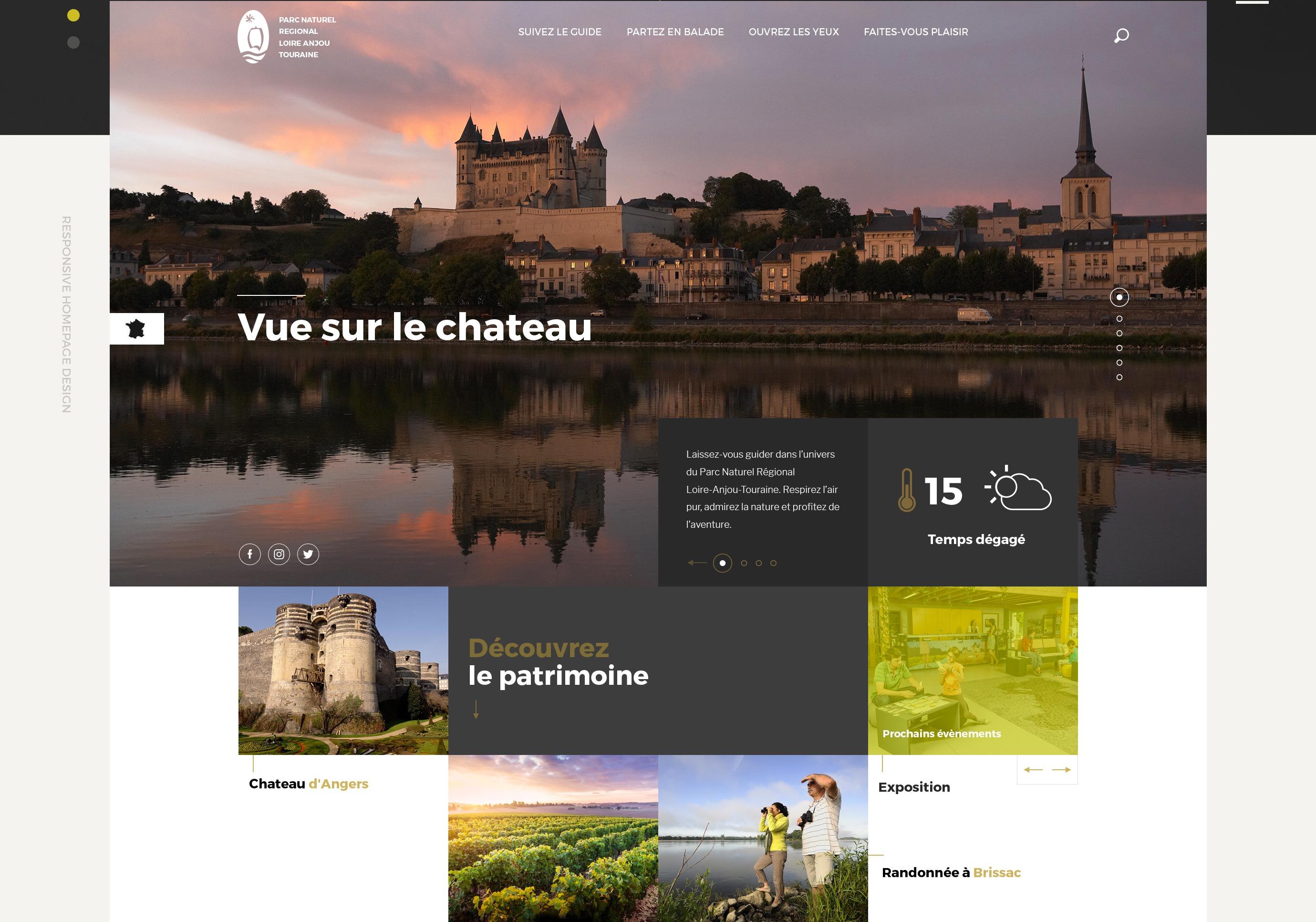 Web Design Project for Parc Naturel Loire-Anjou Touraine