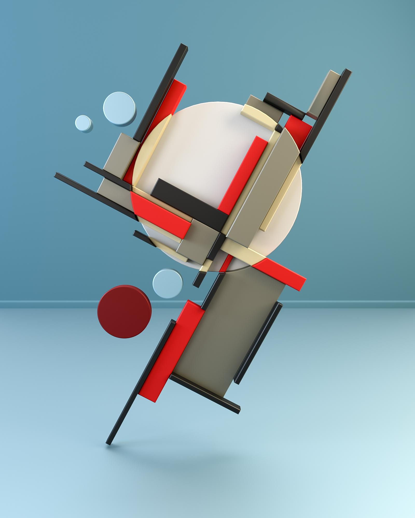 3D Rendering & Digital Art: Suprematism & Constructivism