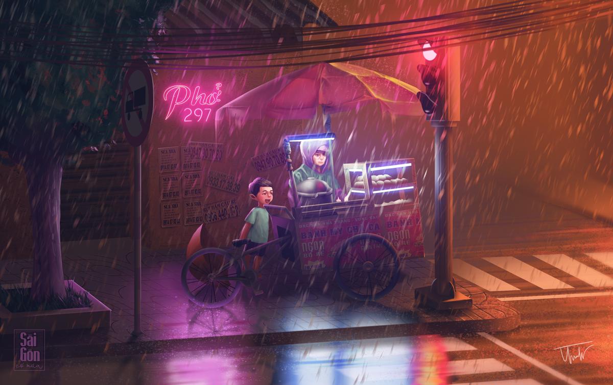 Saigon Rainy Days through Illustrations