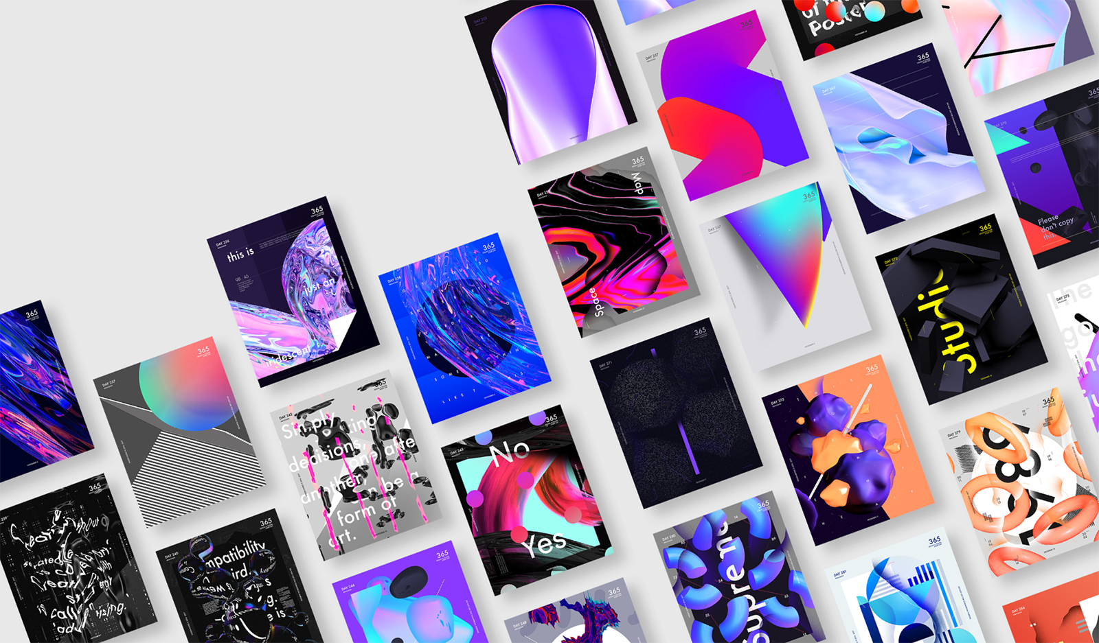 Graphic Design: Baugasm 365 Posters