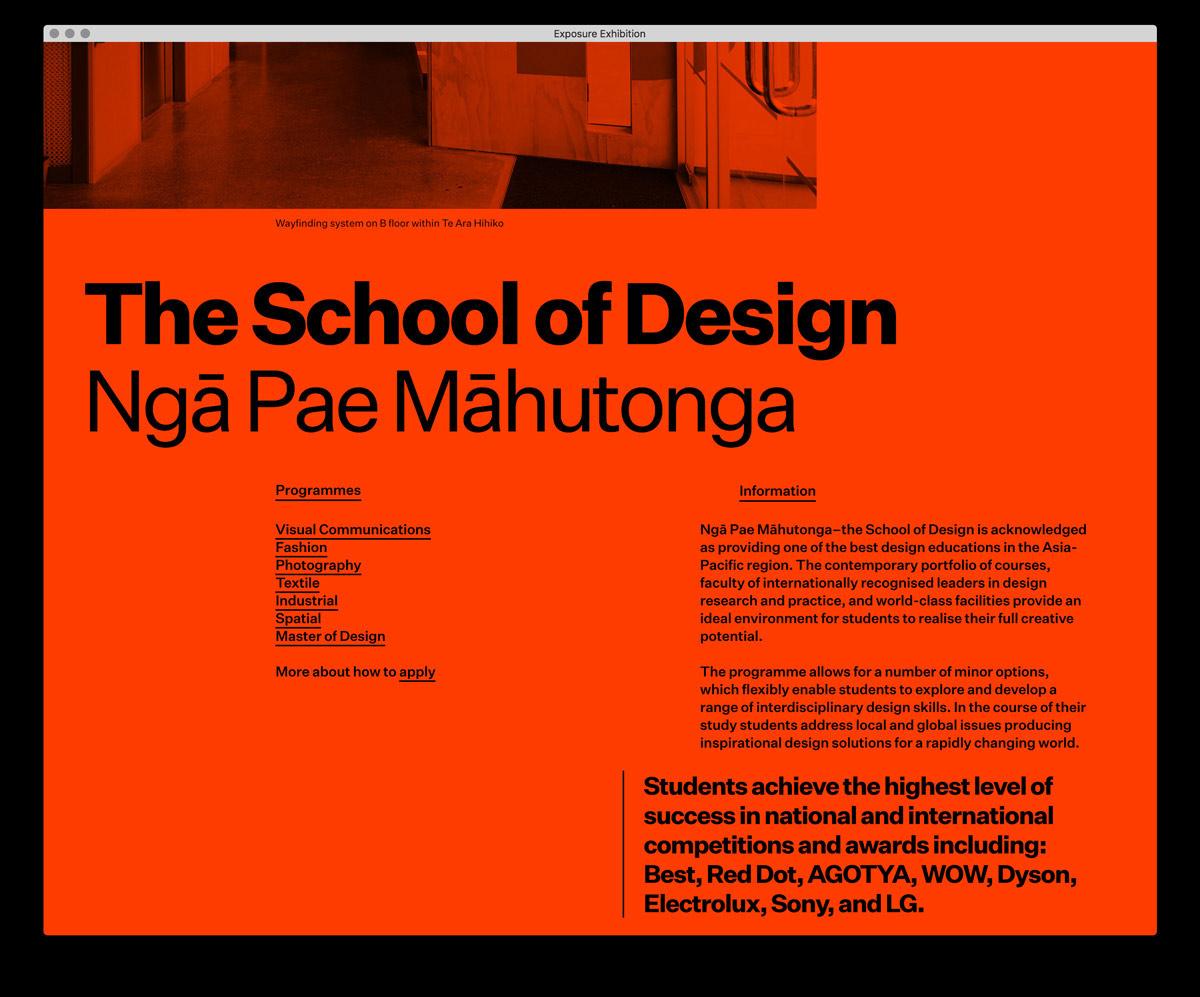 Super Editorial Web Design for Exposure
