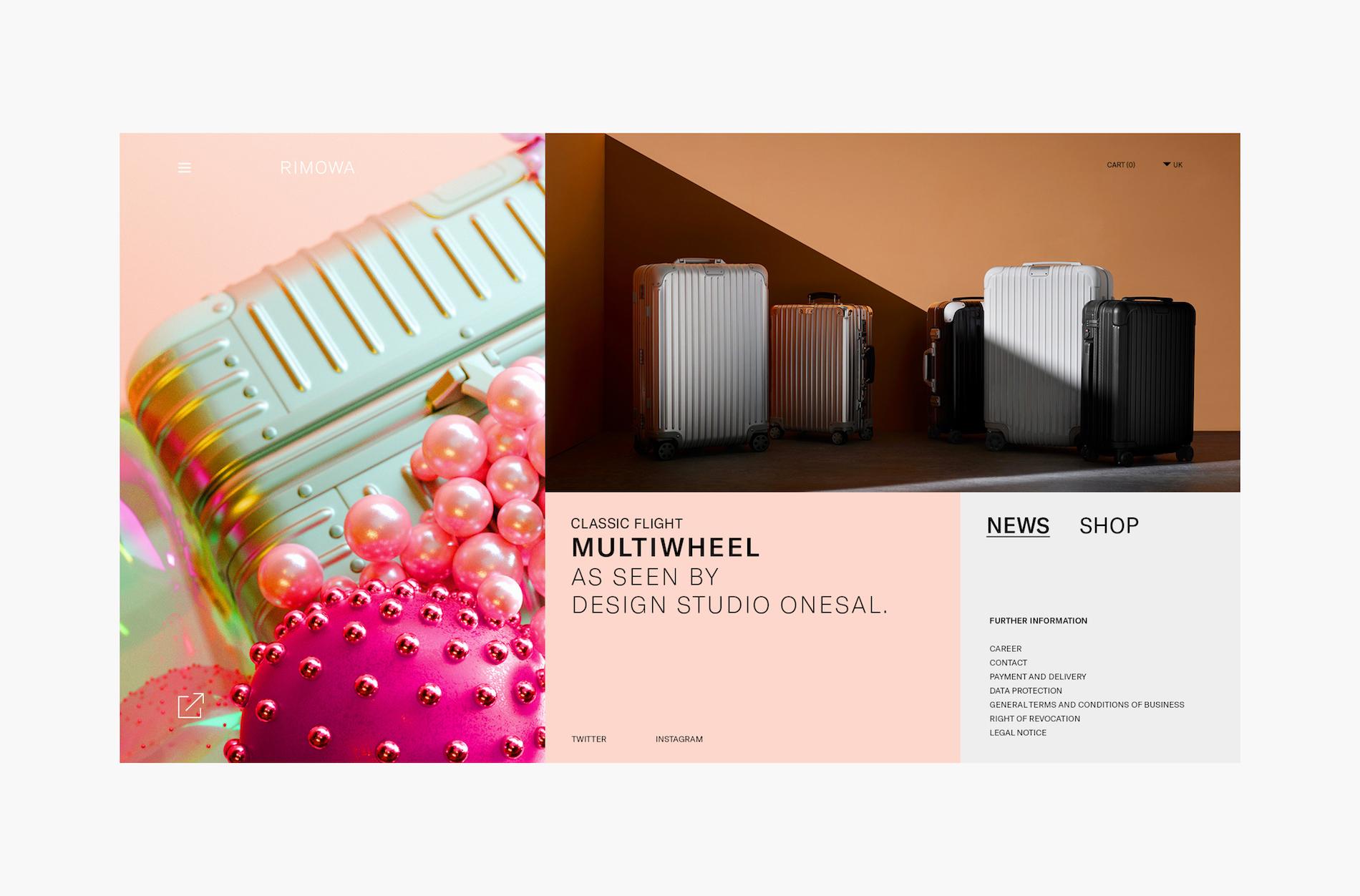 Elegant Web Design and App Design for Rimowa