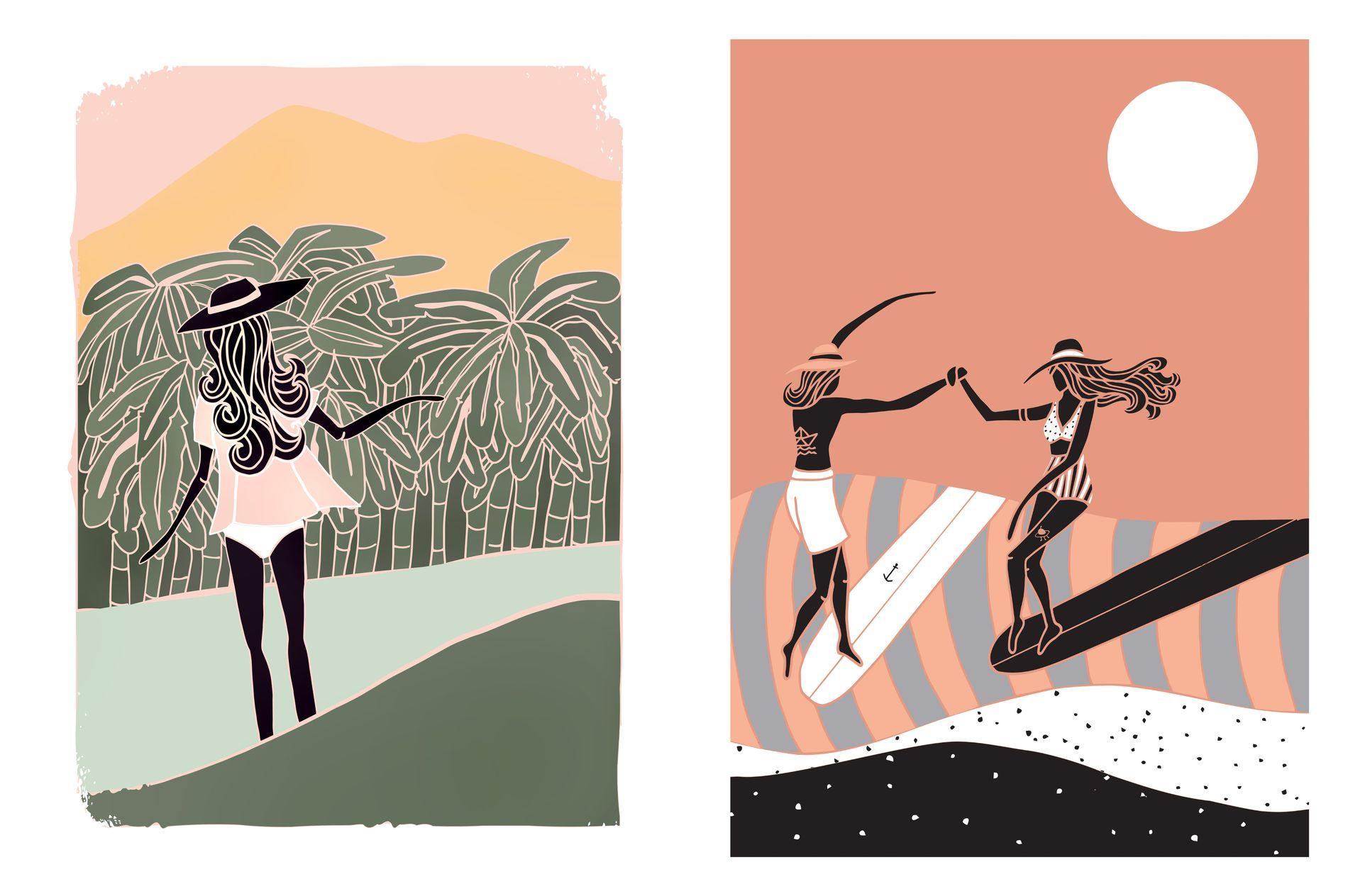 Beautiful Surf & Soul illustrations by Lizzy