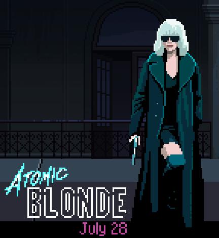 Atomic Blond Pixel Art Game