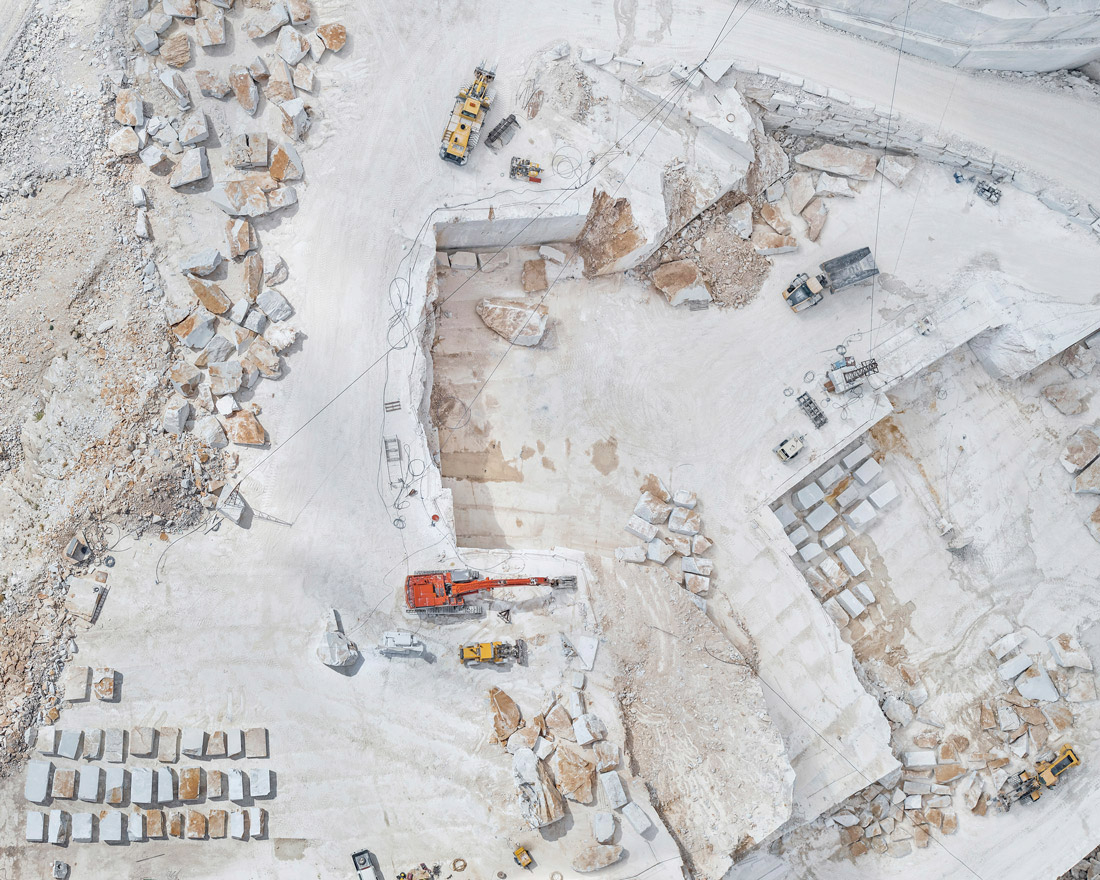 Aerial Photography Love: Carrara Marble Mines by Bernhard Lang