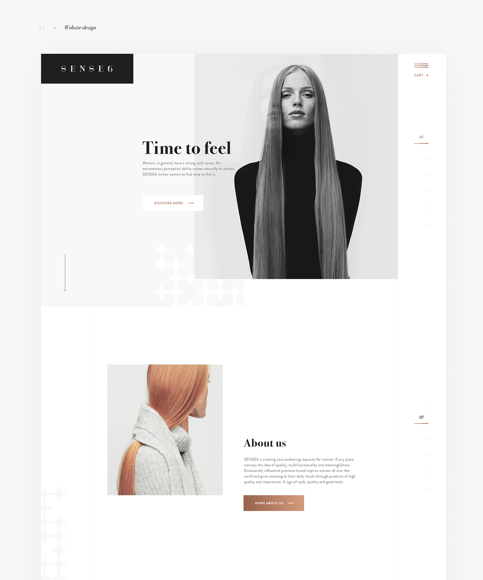 Web Design: Sense6 Fashion Website Design