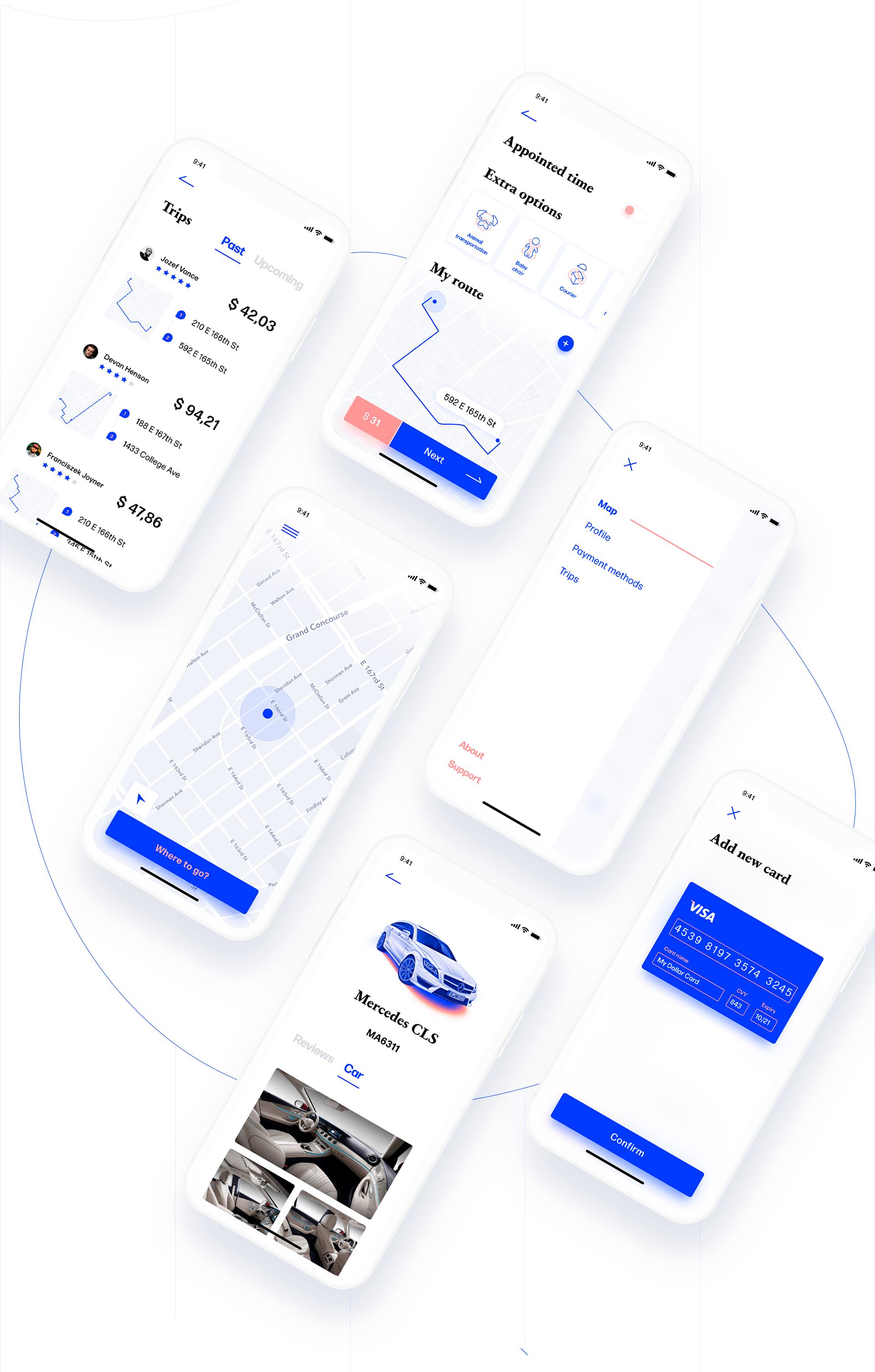 Mobile App Design: NYC Taxi App Concept using Adobe XD