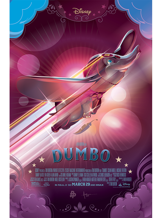 Amazing Vector Illustration for Disney Tim Burton's Dumbo