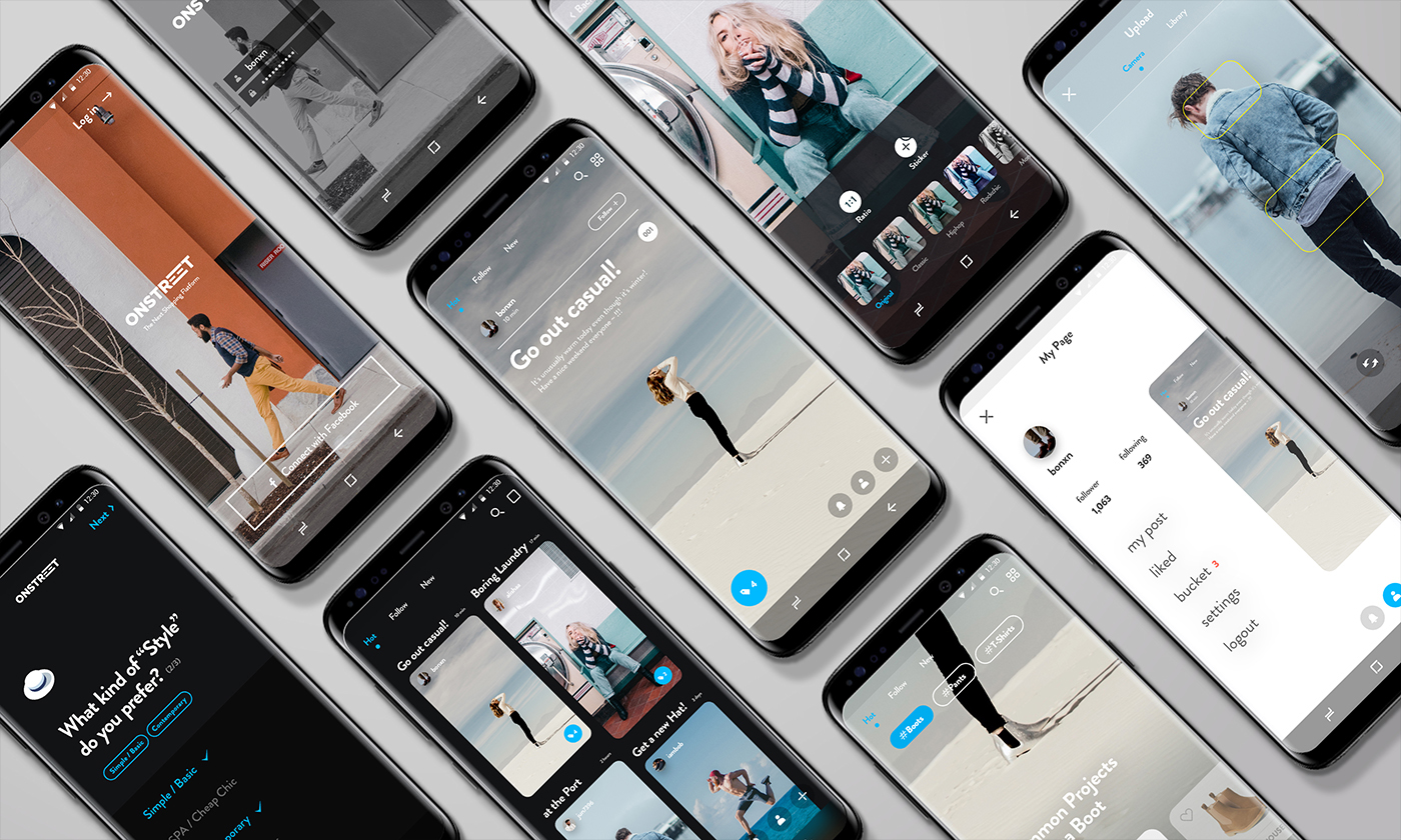 App Design and UX: Onstreet Community Concept