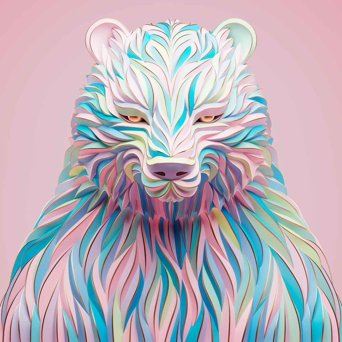 3D Animal Portraits by Maxim Shkret