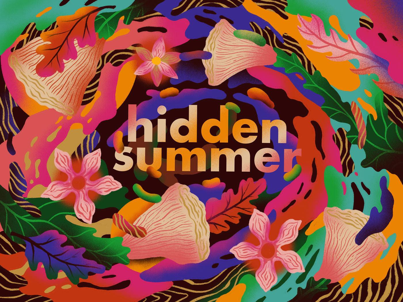Hidden Summer Illustration Using Procreate