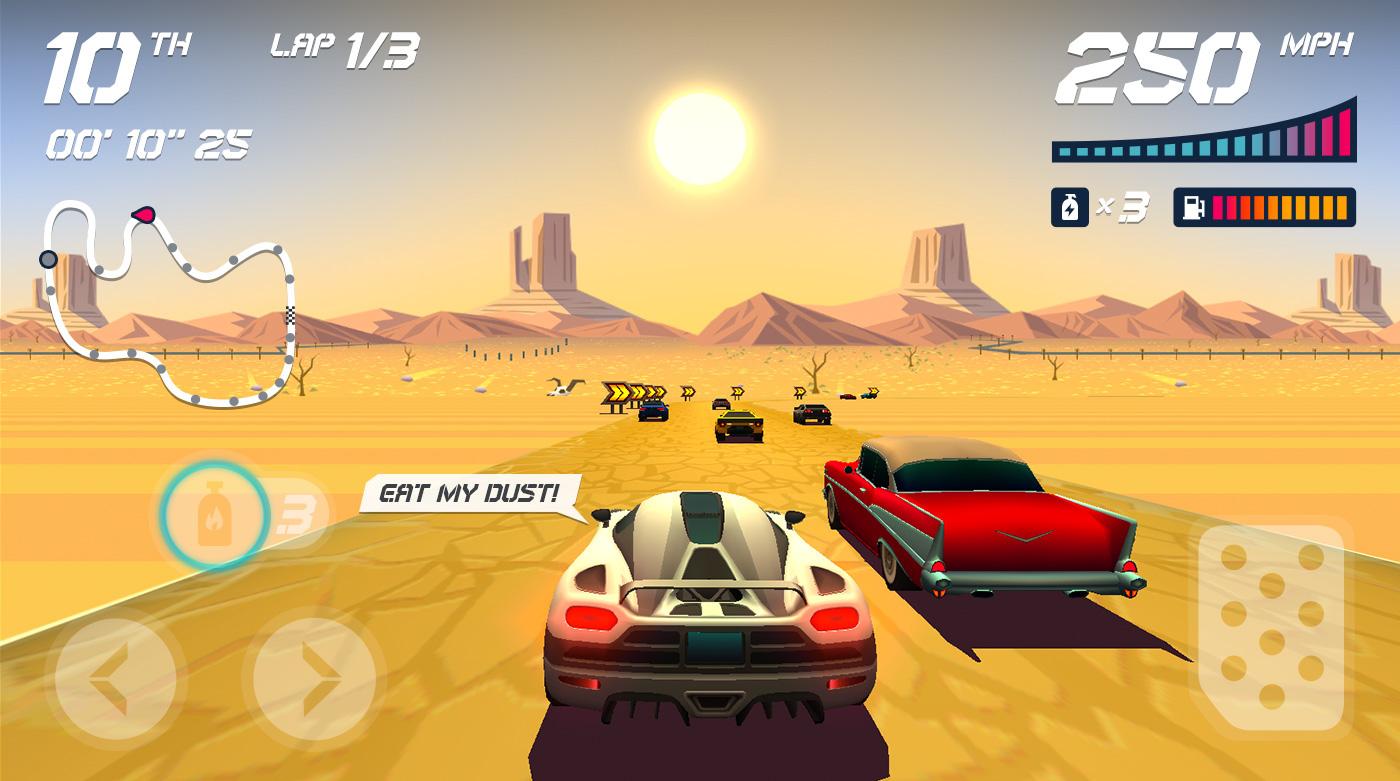 Nostalgic Game Design  for Horizon Chase