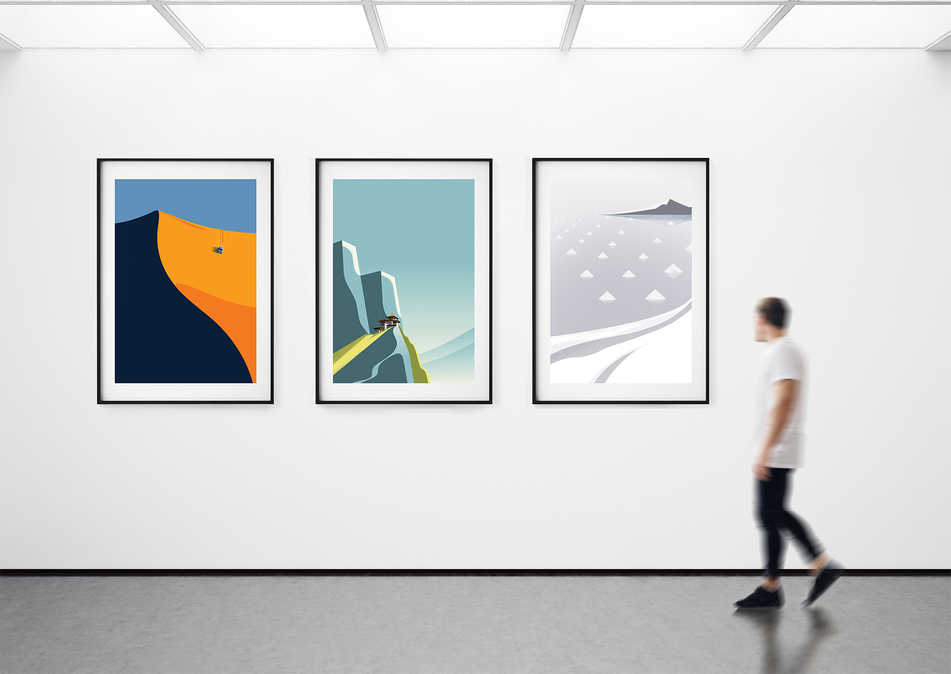 Graphic Design: Exotic Destinations On Earth Illustrations