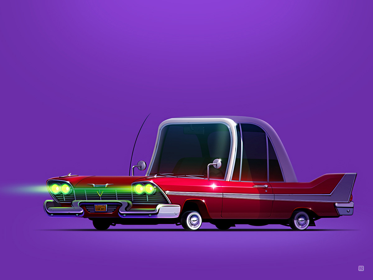 Iconic Movie Cars by Servin Seidaliev