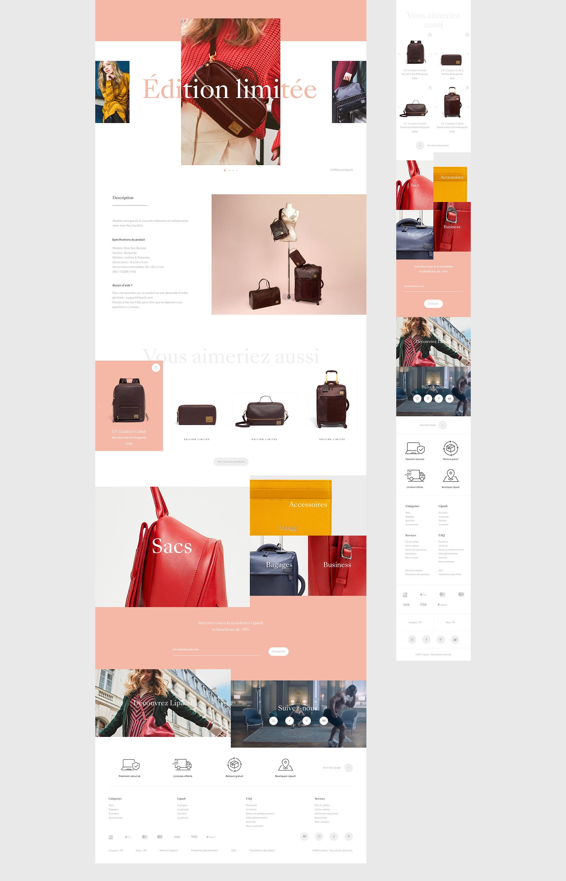 Lipault™ E-Commerce Responsive Web Design