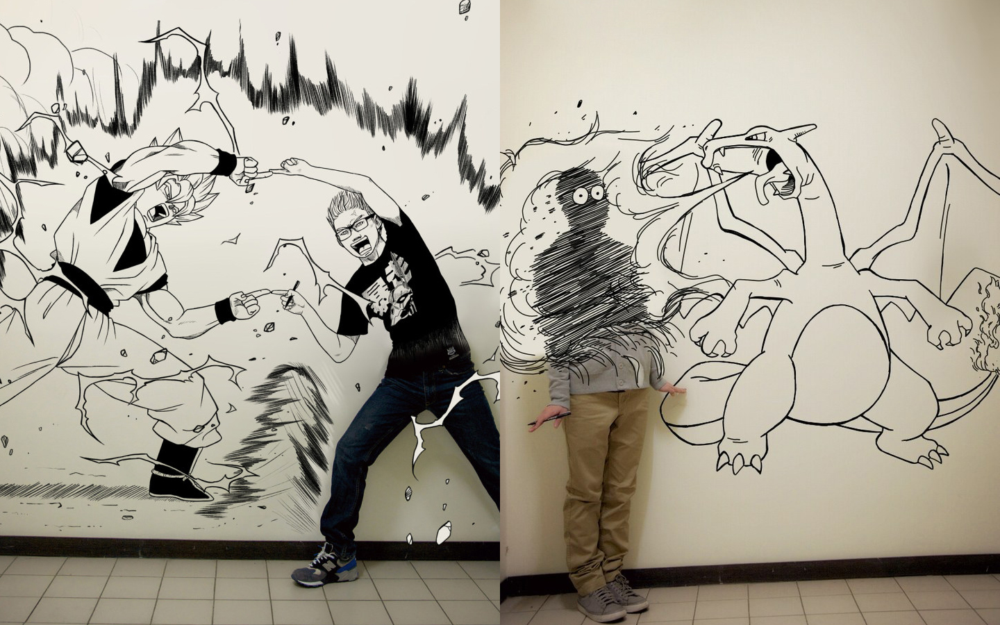 Cool wall drawings pleasing stylish inspiration ideas cool for Cool drawing websites