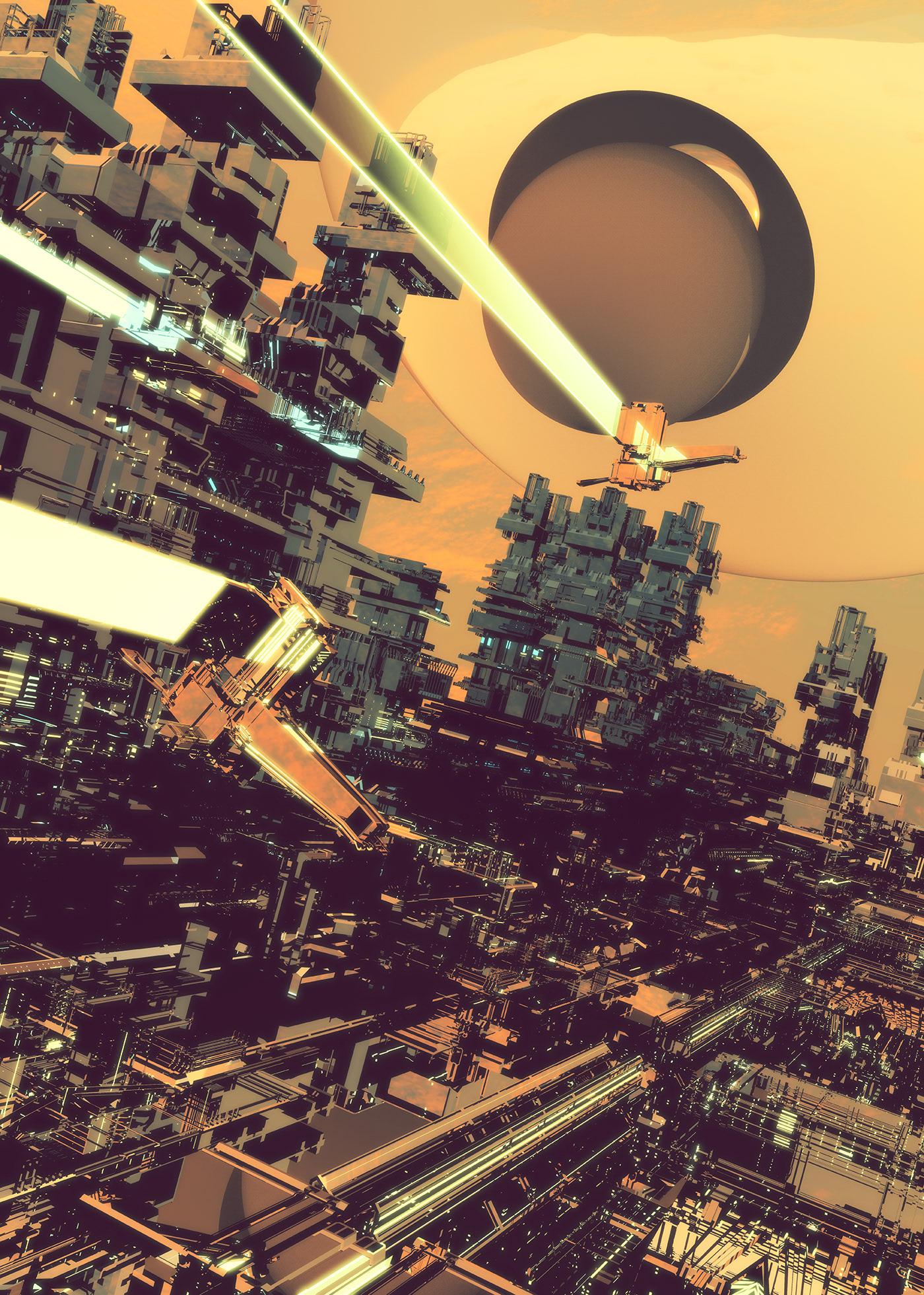 Futuristic Digital Art by atelier olschinsky