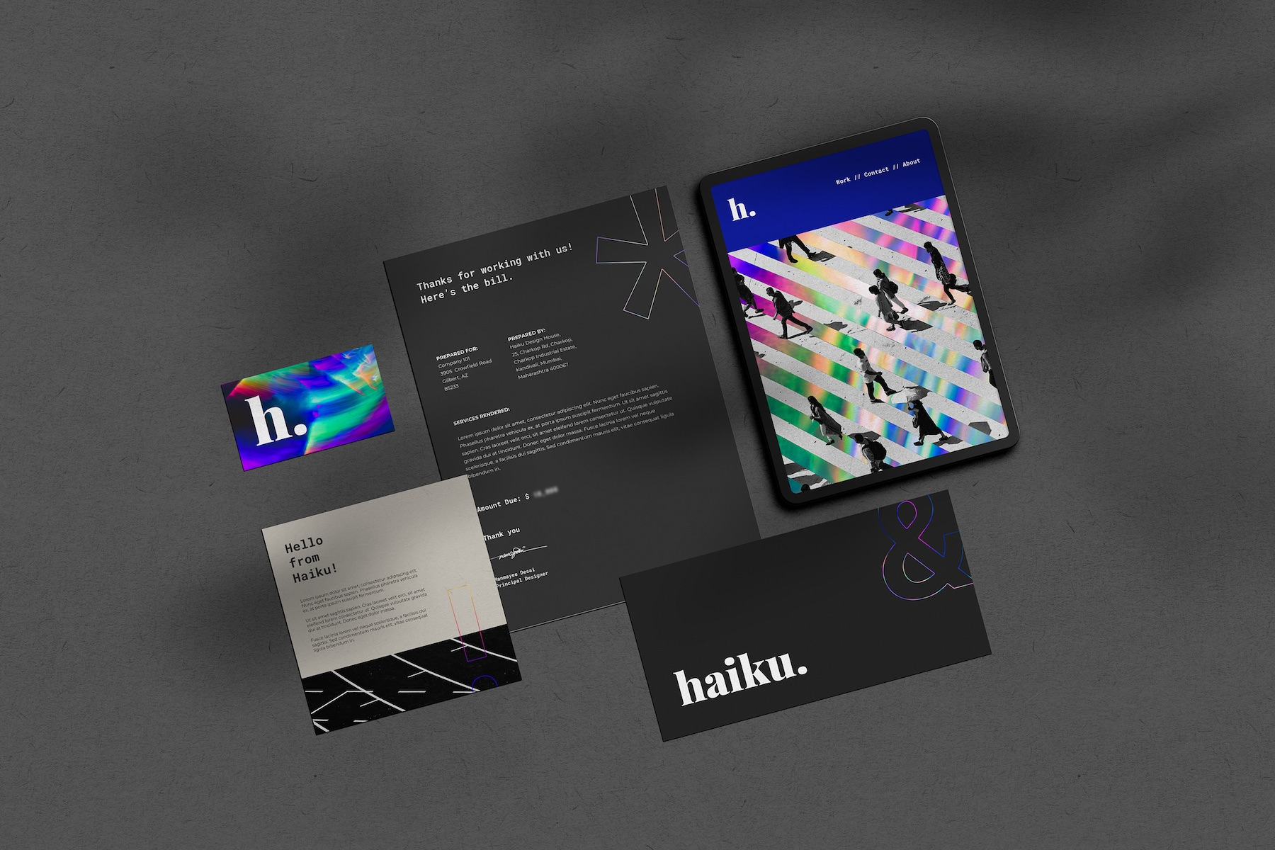 Branding and Visual Identity for Haiku Design House