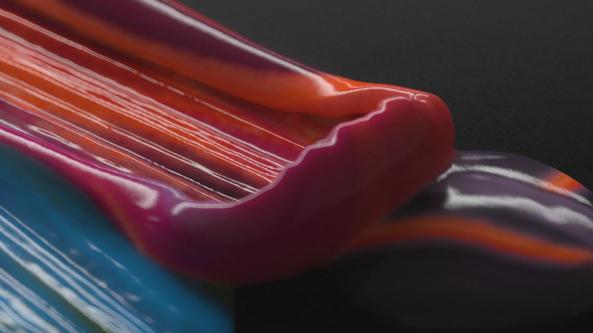 Liquid Colorful Paint in 3D by Ditroit Studio & Malaki