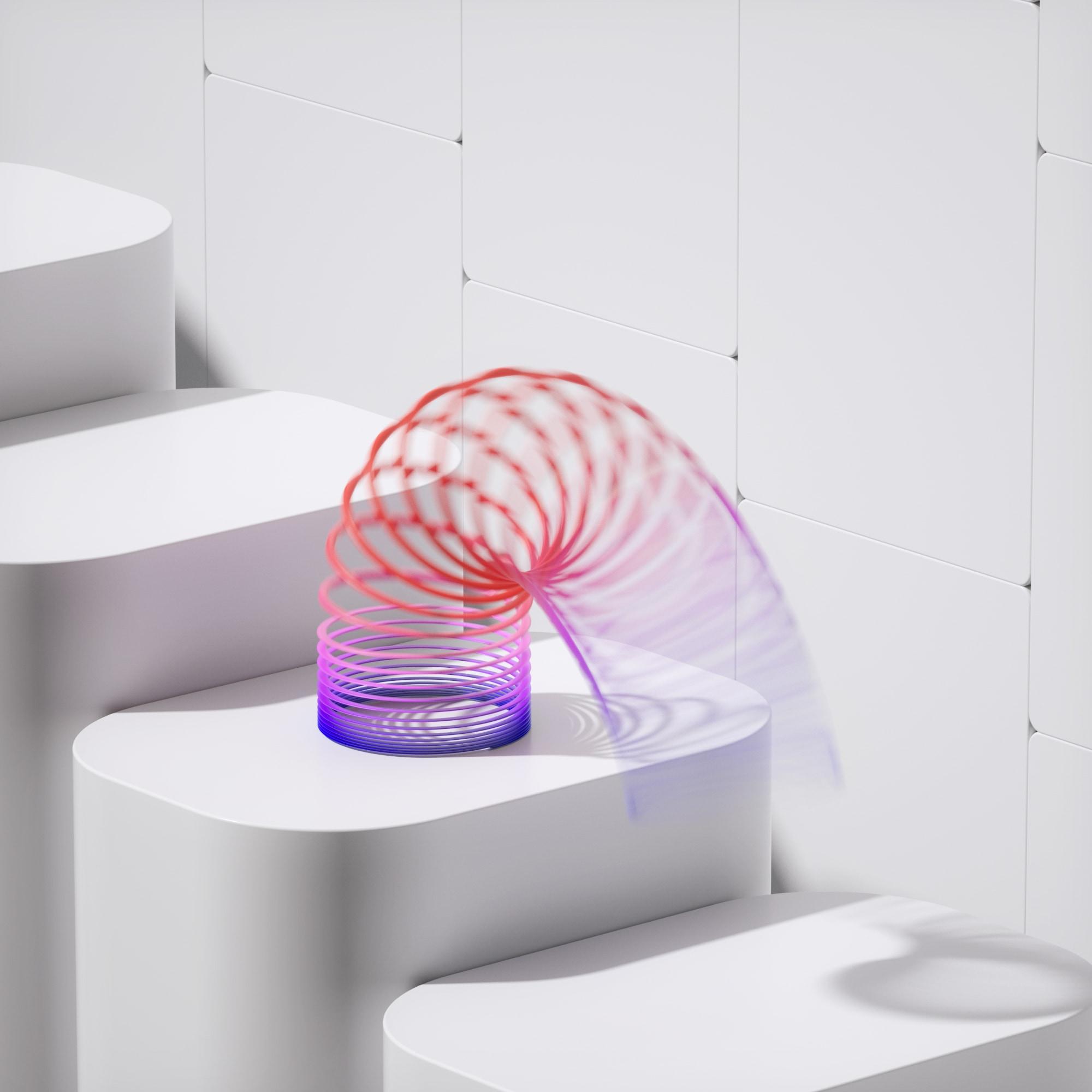 Slinky Nostalgia in 3D
